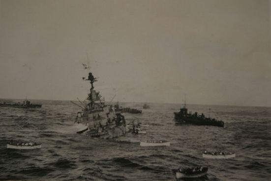 Chiếc HMS Audacious bị chìm sau khi đâm vào thủy lôi, tháng 10 năm 1914.