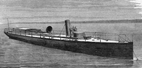 Chiếc tầu phóng ngư lôi HMS Lightning năm 1877.