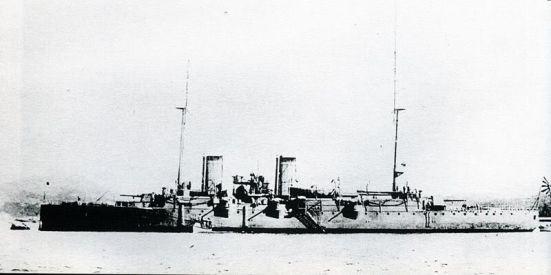 Chiếc tuần dương hạm có bảo vệ đầu tiên, chiếc Esmeralda, sau này được bán cho Nhật Bản và đổi tên thành chiếc IJN Izumi