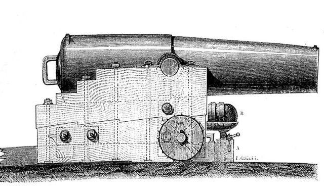 Tranh minh họa khẩu súng Paixhans