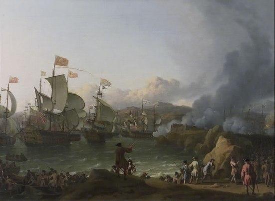 Tranh vẽ trận đánh vịnh Vigo năm 1702