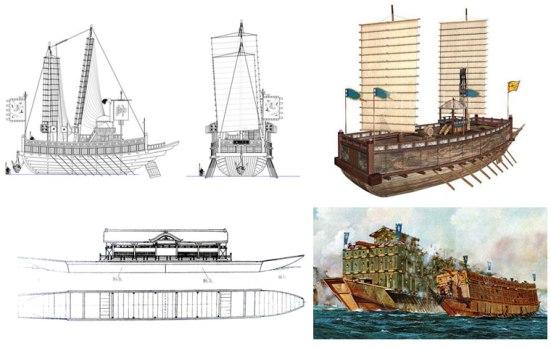 Hình minh họa tầu chiến lớp Atakebune
