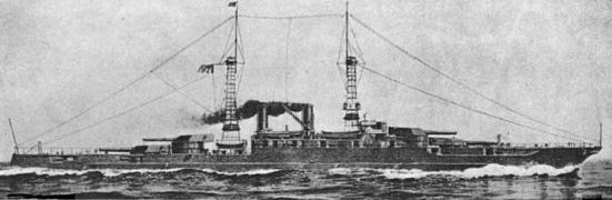 Chiêc thiết giáp hạm Colorado của Hoa kỳ với các súng chính có cỡ nòng lên tới 16 in