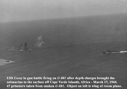 ảnh chiến đấu thực của tàu mỹ và U boat