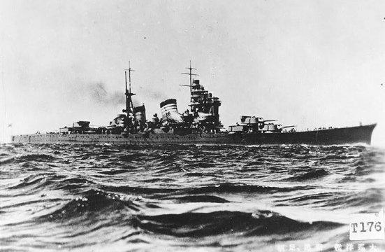 Chiếc tuần dương hạm hạng nặng Maya thuộc lớp Takao của Hải quân Nhật Bản, chiếc này được đóng với những quan niệm mới về hải quân nên được trang bị tới 117 khẩu súng phòng không 25 mm
