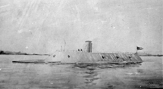Một bức ảnh chụp chiếc Thiết giáp hạm CSS Virginia