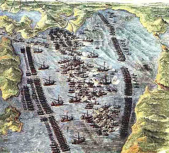 Trận Lepanto - Bức tranh đang được lưu giữ tại Bảo tàng của Vatican
