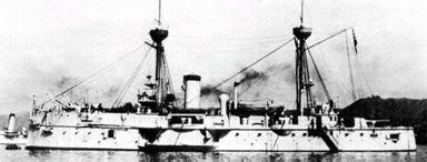 Ảnh chiếc tầu bọc thép Fuso của Hạm đội Nhật Bản