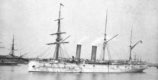 Chiếc HMS Mercury, chiếc tuần dương hạm hạng nhẹ đầu tiên trên thế giới của Hải quân Hoàng gia Anh