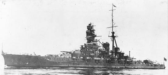Tuần dương - thiết giáp hạm lớp Kongô của Hải quân đế quốc Nhật Bản, nó có tải trọng 36.600, tốc độ tối đa 30 hải lý/ giờ, giáp đai dày 203 mm (8 in); phía đuôi tầu 76 ;> 102 mm (3 to 4 in) boong 69.85 mm (2.75 in) ổ súng 254 mm (10 in) tháp pháo 228.6 mm (9 in) tháp điều khiển 254 mm (10 in), vũ khí chính là 8 súng 356 mm (14 in) 16 súng 152 mm (6 in) 8 súng 127 mm (5 in) có tới 118 súng AA 25 mm (1 in) 4 ống phóng ngư lôi dưới mực nước 533 mm (21 in).