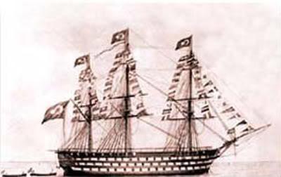 Tranh vẽ chiếc Mahmudiye của đế chế Ottoman