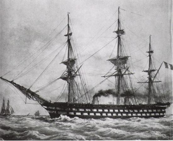 Tranh vẽ chiếc Lê Napoléon của Hải quân Pháp