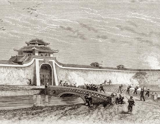 Quân Pháp đánh thành Hà Nội năm 1873 (ảnh wiki)