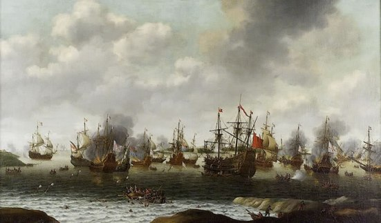 Tấn công vào Medway tháng Sáu 1667, tàu bị bắt giữ Royal Charles là chiếc ở bên phải của phía trung tâm