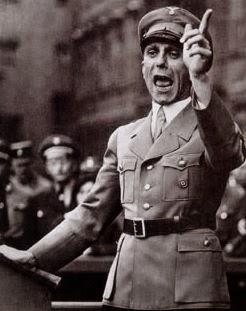 Bộ Trưởng Tuyên Truyền Đức Quốc Xã Paul Joseph Goebbels, người giỏi dùng các ngôn từ và luận điệu cay độc, tàn nhẫn để bôi xấu kẻ thù chính trị, chủ trương là cứ nói dối mãi rồi thì quần chúng cũng tin