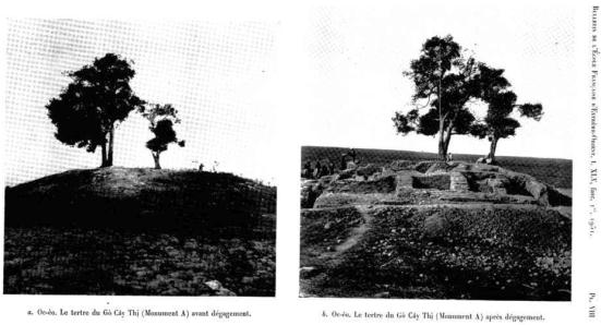 Hình 9 - Gò Cây Thị nơi Malleret khảo sát và khai quật năm 1944 (1)