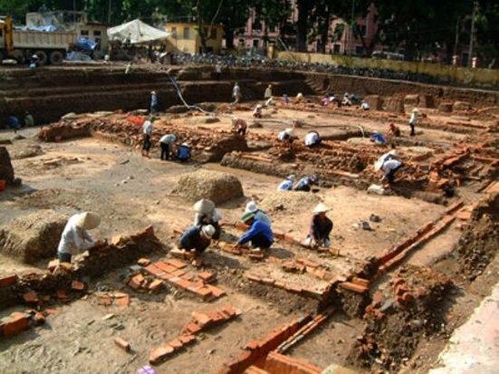 Khu di tích Hoàng thành Thăng Long. Nguồn : dothi.net