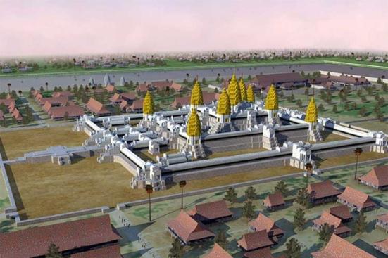 Theo mô tả của Châu Đạt Quan vị đặc sứ Trung Hoa tại kinh đô của Kampuchea vào thời Angkor, thì các tháp của Angkor Wat và đền Bayon ở Angkor Thom thuở ấy đều được dát vàng. Khu vực chung quanh có dân cư quần tụ đông đúc trên một diện tích rộng gần bằng Los Angeles ngày nay.