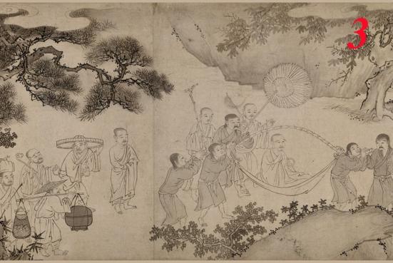 Trần Nhân Tông trong tranh Trúc Lâm Đại sĩ xuất sơn đồ