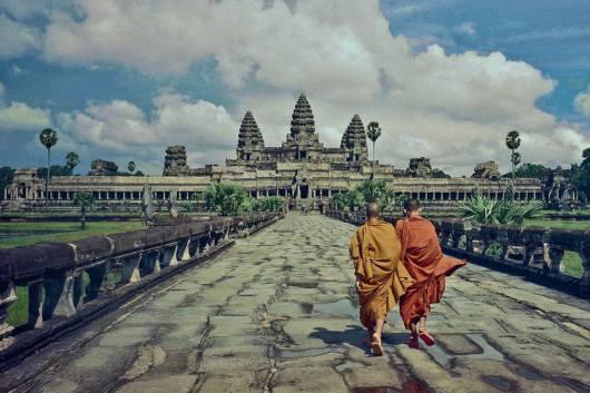 Lối chính vào đền Angkor Wat. (Ko Hon Chiu Vincent)