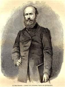 Chân dung nhà thám hiểm Henri Mouhot do ông H Rousseau họa lại từ ảnh chụp. (Wikipedia)