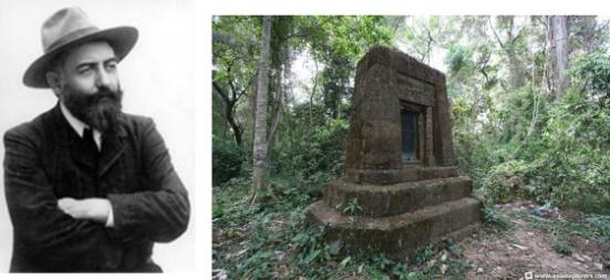 Jean Commaille, giám đốc đầu tiên của Conservation of Angkor, bị kẻ gian giết chết để cướp tiền lương của dân phu. Ông được chôn ở khu rừng gần đền Bayon. (Courtesy of Asia Explorers and Angkor.wat.online.fr)