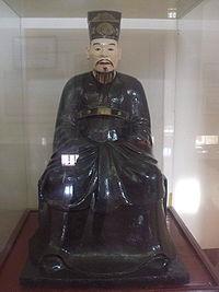 Ảnh 1: tượng Đặng Tiến Đông tại chùa Trăm Gian (Tiên Lữ-Chương Mỹ)