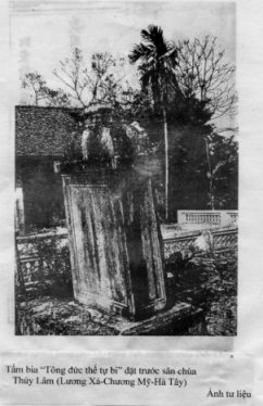 Ảnh 4: Bia chùa Thủy Lâm(1797)