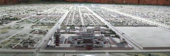 西寺復元模型