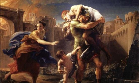 Batoni_Pompeo_—_Aeneas_fleeing_from_Troy_—_1750