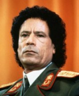 1986, Libya --- Muammar al-Qaddafi in Military Uniform --- Image by © Peter Turnley/CORBIS