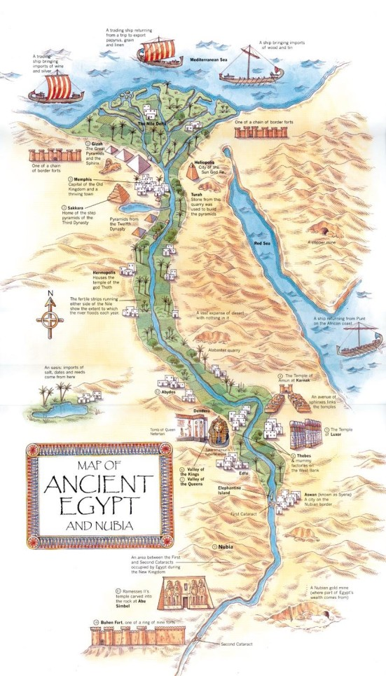 Ancient Egypt geogrpahy and landmarks map.jpg