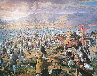 Goguryeo charged the remaining Sui army