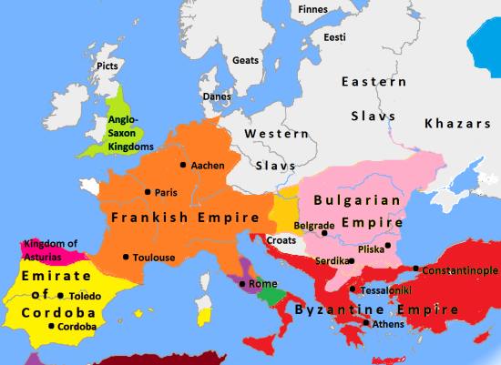 Europe_in_814_map