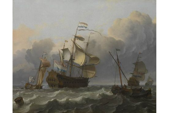Dutch_Flagship_with_a_Yacht