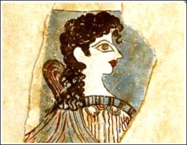 Các bích họa vẽ phụ nữ Crete, khoảng 1,600 trước C.N trong thời hoàng kim của nền văn hóa Cretan-Mycenaean