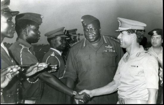 Muammar Gaddafi and Idi Amin Dada