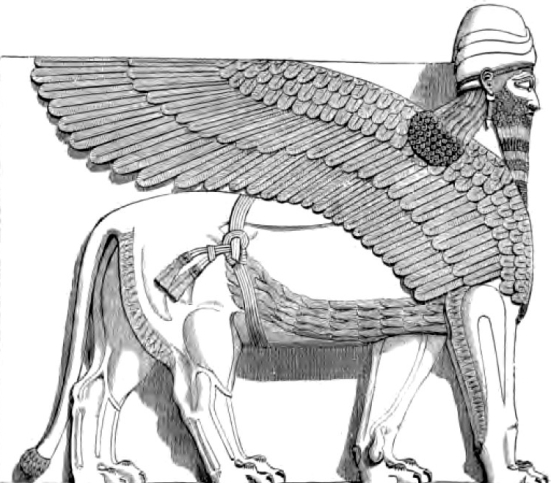 assyrian-winged-man-headed-lion