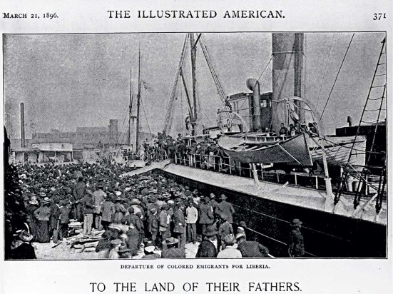 Emigrants Depart for Liberia