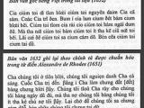 Tiếng Việt từ thời LM de Rhodes – Kinh Lạy Cha và chữ 'chưng' (phần5D)
