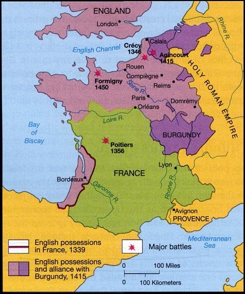 100 Years War Map