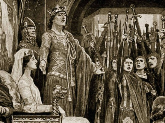 The Assembly at Windsor, 1126, illustration from 'Hutchinson's Story of the British Nation', c.1923 (litho)