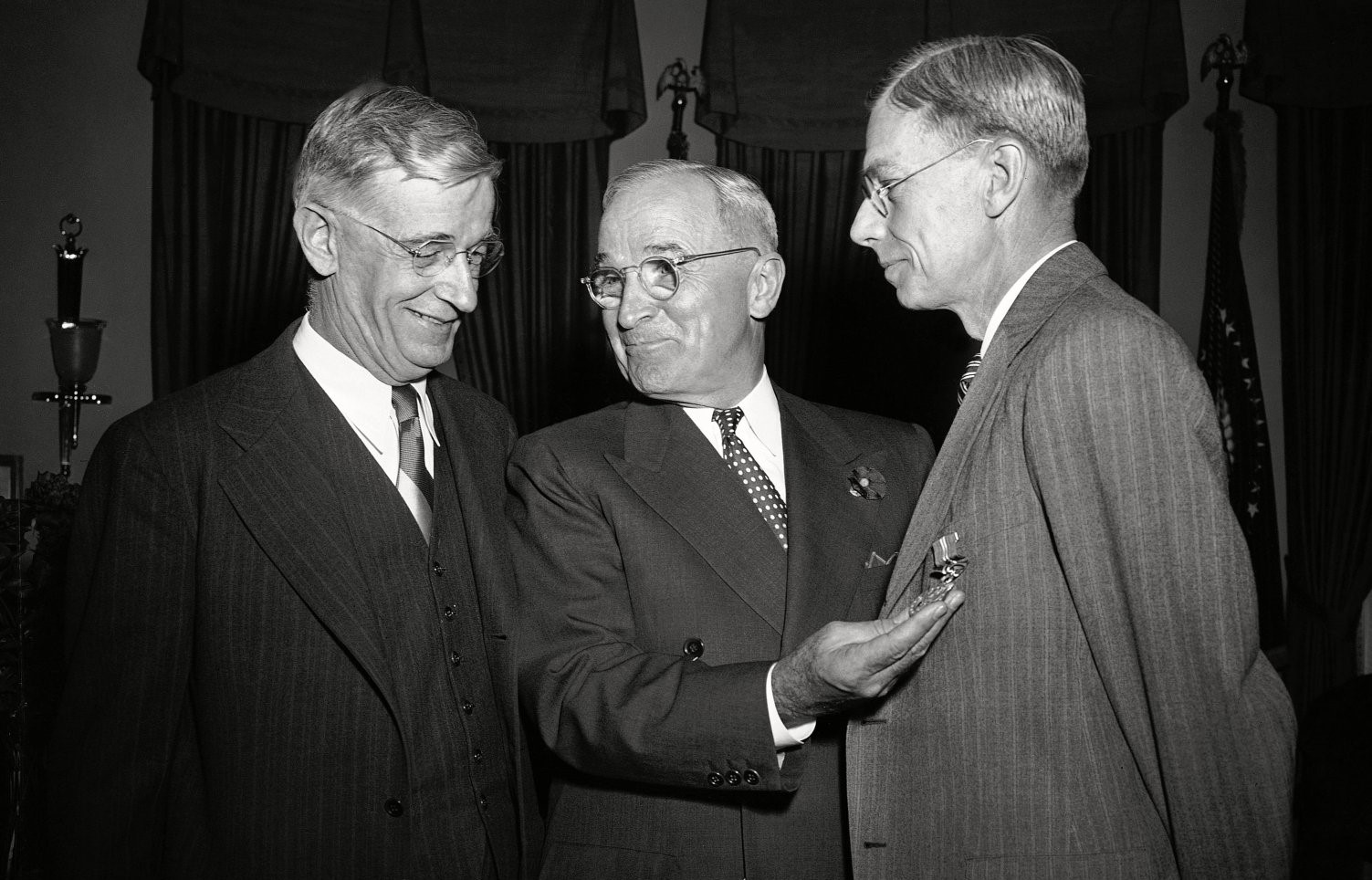 Harry Truman With Scientists, Washington, USA