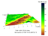 Bình Ngô Ðại Cáo, minh họa với địa hình đo bởiSRTM