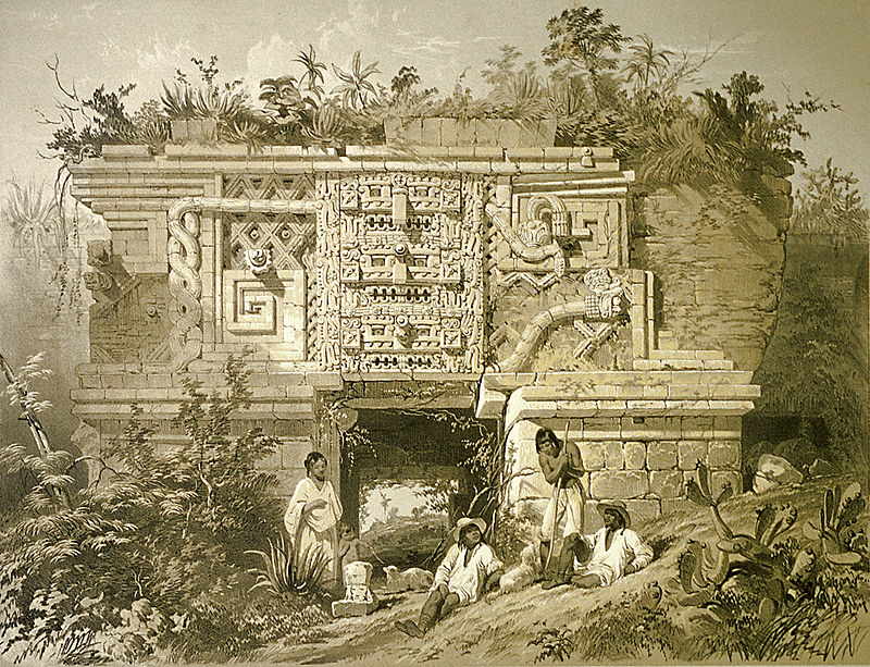 Maya Uxmal_nunnery_by_Catherwood_Public_Domain