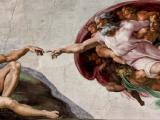 Họa phẩm 'Sự sáng tạo Adam' củaMichelangelo