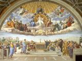 Song ứng tuyệt tác 'Cuộc tranh luận về Bí Tích Thánh Thể – Học tràng Athens' của danh họaRaphael